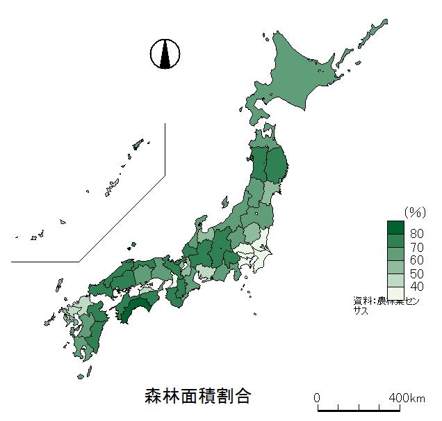 森林面積割合